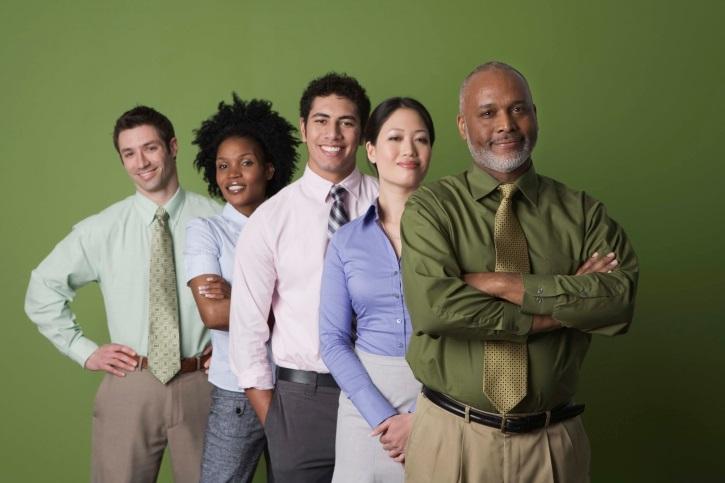 Interracial group