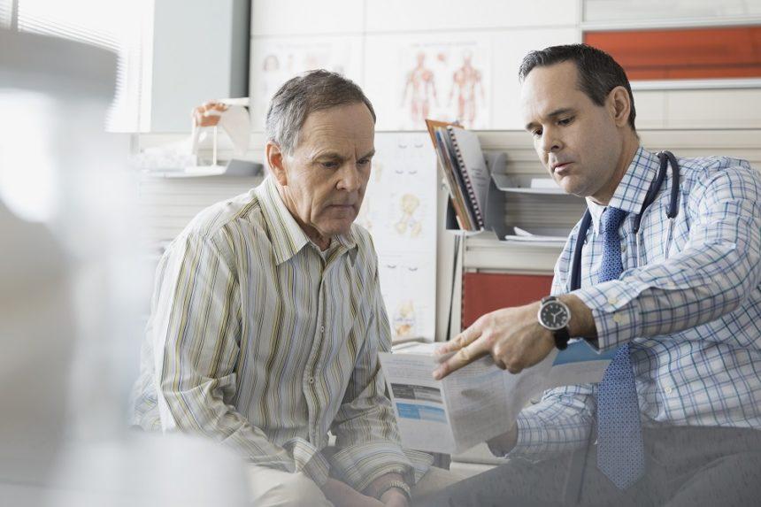 doctor, patient, older patient, male doctor, male patient, doctor's office, nephrology, urology, AUA