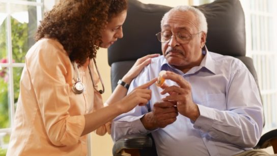 Talking to patient about medication