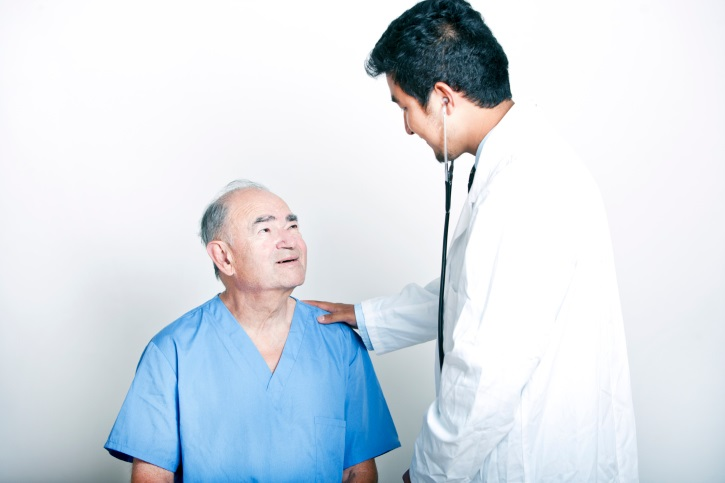 Doctor seeing an Asian male patient