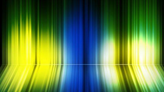 Narrow band imaging emits blue and green light