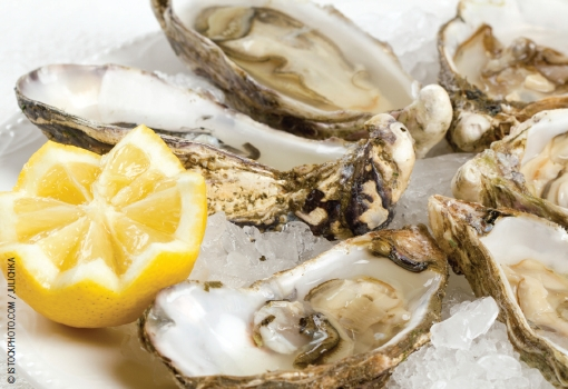 Good sources of zinc include oysters.