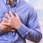 heart failure patient clutching chest