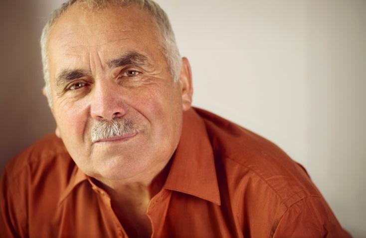 Hispanic older man with mustache