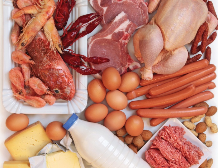 High-protein foods have increased levels of purines that may contribute to a gout flare.