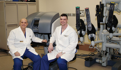 Dr. Lanteri (left) and Dr. Esposito have extensive experience performing robotic RPs.