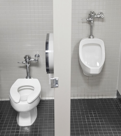 Men with urination problems from enlarged prostate are better off sitting rather than standing.