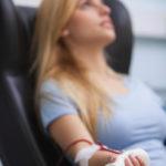 A young woman receiving dialysis.