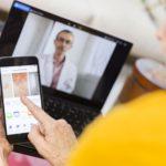 Senior woman having a telemedicine visit