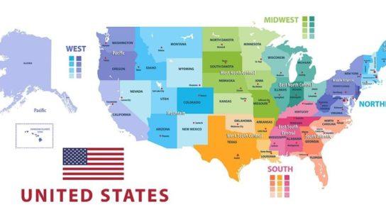 United States regional map