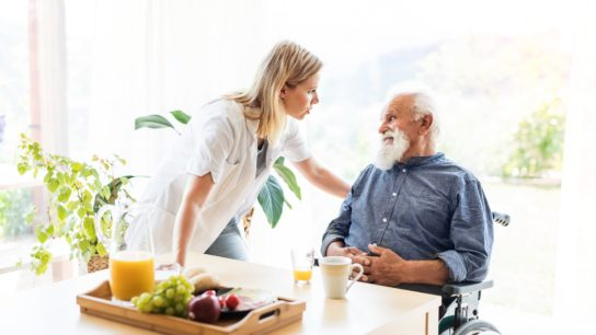 nursing home patient with home health aid