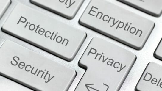 Encryption button on computer keyboard