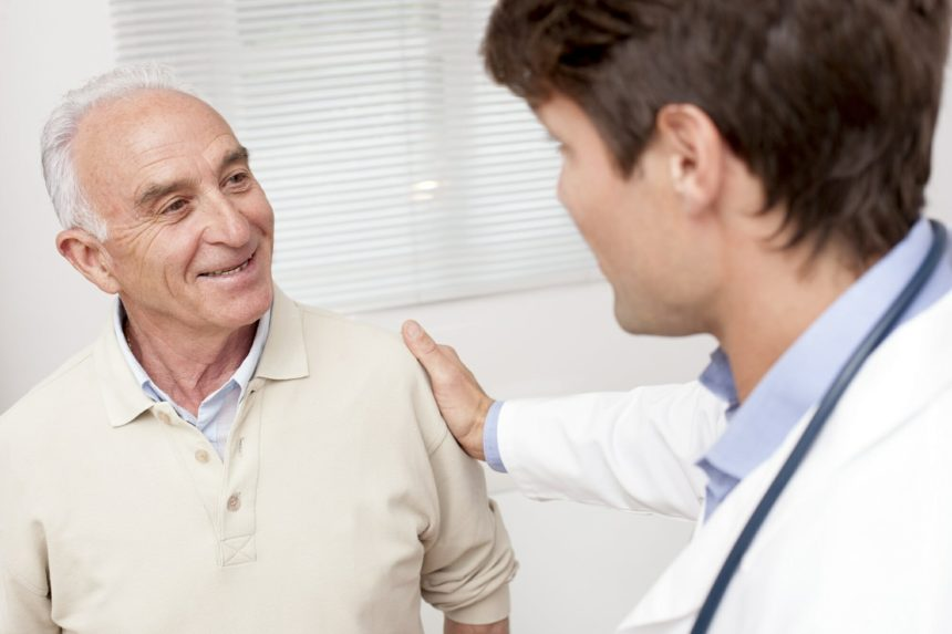 doctor meeting with older patient